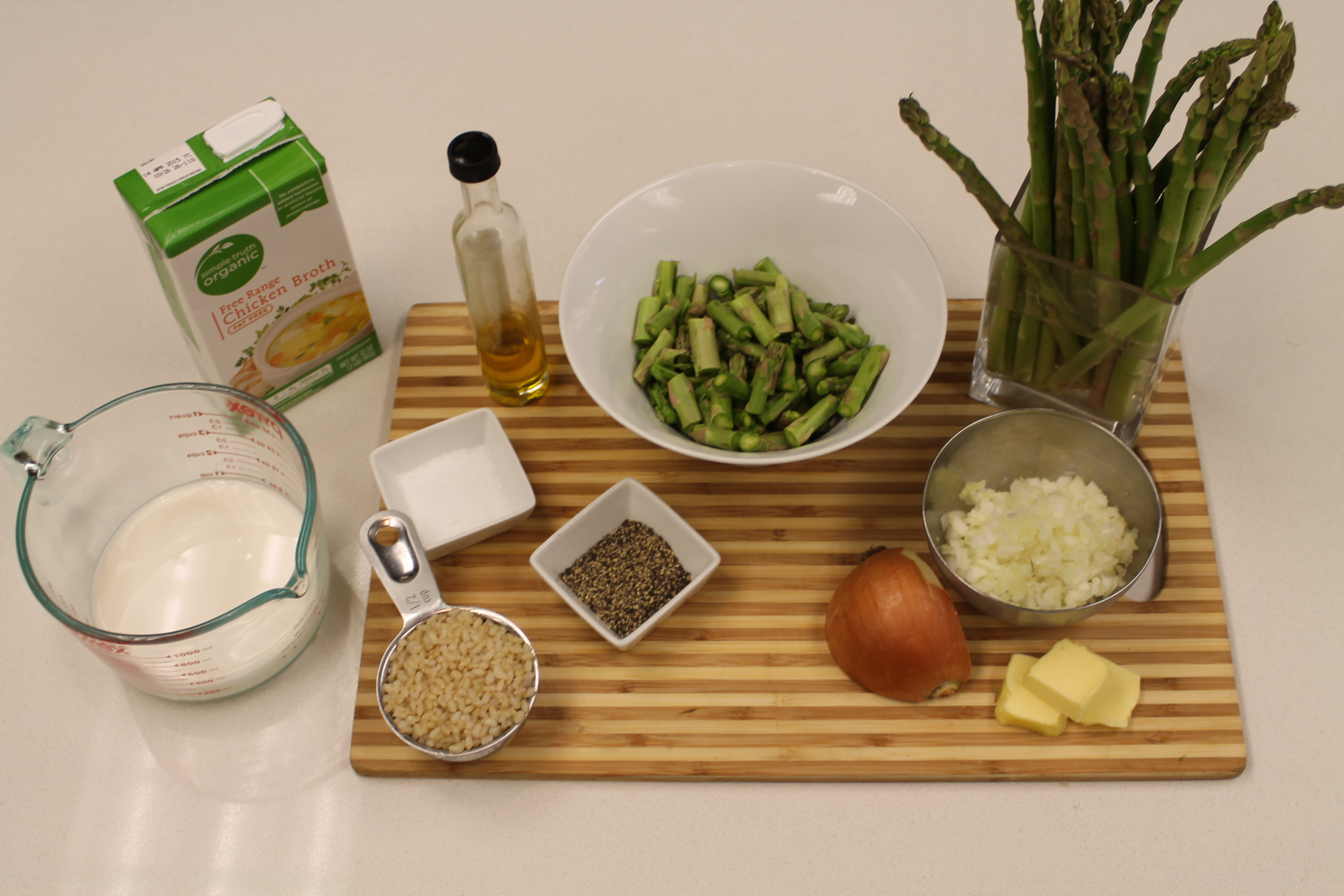 Add The Onions And Saut� Until They Are Soft And Just Starting To Brown  Around The Edges Add The Asparagus